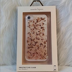 I phone cover hard case gold flake Nanette Lepore